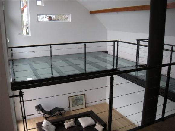 Dalles de sol macocco verres doubles vitrages isolants - Fermeture mezzanine verre ...