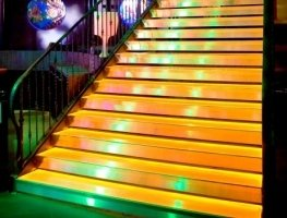 Evasafe laminated glass for a lighted staircase