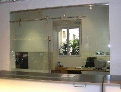 Portes cloisons tout verre vos dimensions macocco - Cloison en verre interieur ...